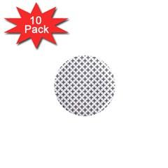 Black Cross 1  Mini Magnet (10 Pack)  by jumpercat