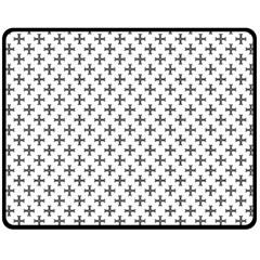 Black Cross Fleece Blanket (medium)  by jumpercat