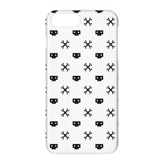 Black Pixel Skull Pirate Apple Iphone 8 Plus Hardshell Case by jumpercat