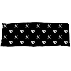 White Pixel Skull Pirate Body Pillow Case Dakimakura (two Sides) by jumpercat