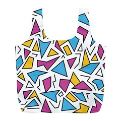 Retro Shapes 01 Full Print Recycle Bags (l)  by jumpercat
