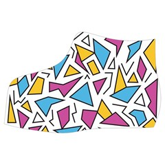 Retro Shapes 01 Women s Mid Top Canvas Sneakers