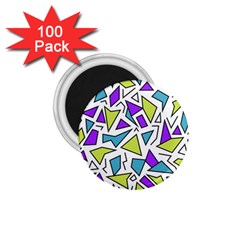 Retro Shapes 02 1 75  Magnets (100 Pack)  by jumpercat