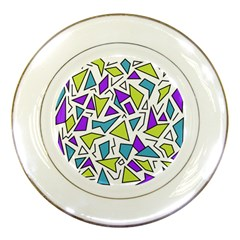 Retro Shapes 02 Porcelain Plates by jumpercat