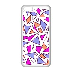 Retro Shapes 03 Apple Iphone 5c Seamless Case (white) by jumpercat