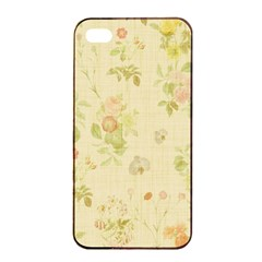 Floral Wallpaper Flowers Vintage Apple Iphone 4/4s Seamless Case (black) by Celenk
