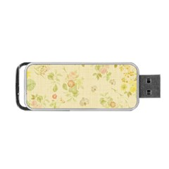 Floral Wallpaper Flowers Vintage Portable Usb Flash (two Sides) by Celenk