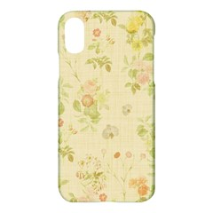 Floral Wallpaper Flowers Vintage Apple Iphone X Hardshell Case by Celenk