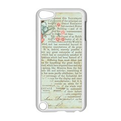 Vintage Floral Background Paper Apple Ipod Touch 5 Case (white) by Celenk