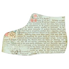 Vintage Floral Background Paper Women s Mid Top Canvas Sneakers