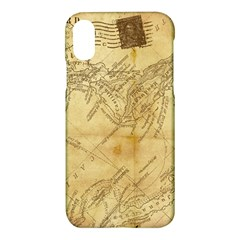 Vintage Map Background Paper Apple Iphone X Hardshell Case by Celenk