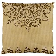 Vintage Background Paper Mandala Large Flano Cushion Case (two Sides) by Celenk