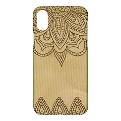 Vintage Background Paper Mandala Apple Iphone X Hardshell Case by Celenk