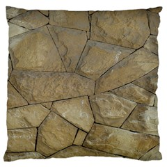 Brick Wall Stone Kennedy Standard Flano Cushion Case (two Sides) by Celenk