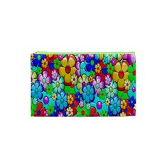 Flowers Ornament Decoration Cosmetic Bag (xs) by Celenk
