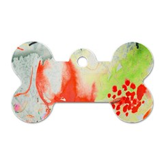 Fabric Texture Softness Textile Dog Tag Bone (one Side) by Celenk