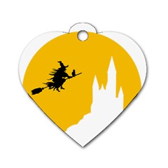 Castle Cat Evil Female Fictional Dog Tag Heart (two Sides) by Celenk