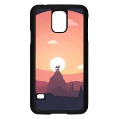 Design Art Hill Hut Landscape Samsung Galaxy S5 Case (black)