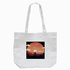 Design Art Hill Hut Landscape Tote Bag (white)