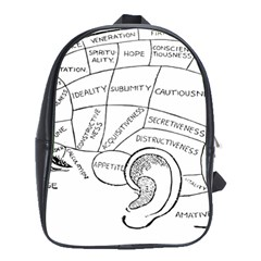 Brain Chart Diagram Face Fringe School Bag (xl) by Celenk