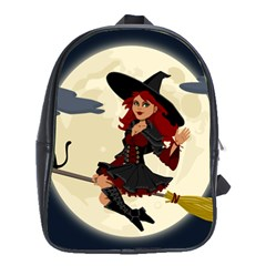 Witch Witchcraft Broomstick Broom School Bag (xl) by Celenk