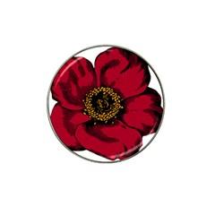 Floral Flower Petal Plant Hat Clip Ball Marker by Celenk
