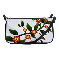 Flower Branch Nature Leaves Plant Shoulder Clutch Bags by Celenk