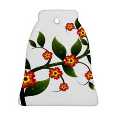 Flower Branch Nature Leaves Plant Ornament (bell) by Celenk