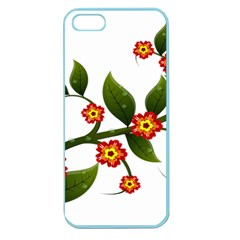 Flower Branch Nature Leaves Plant Apple Seamless Iphone 5 Case (color) by Celenk