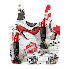 Cosmetic Pattern Full Print Recycle Bags (l)  by allthingseveryday