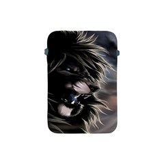 Angry Lion Digital Art Hd Apple Ipad Mini Protective Soft Cases by Celenk