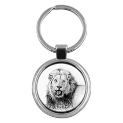 Lion Wildlife Art And Illustration Pencil Key Chains (round)  by Celenk