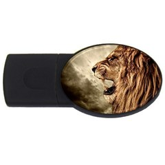 Roaring Lion Usb Flash Drive Oval (2 Gb) by Celenk