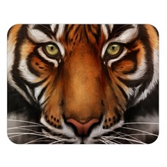 The Tiger Face Double Sided Flano Blanket (large)  by Celenk