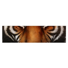 The Tiger Face Satin Scarf (oblong) by Celenk