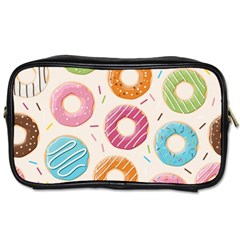 Colored Doughnuts Pattern Toiletries Bags 2 Side by allthingseveryday