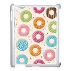 Colored Doughnuts Pattern Apple Ipad 3/4 Case (white) by allthingseveryday