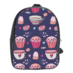 Afternoon Tea And Sweets School Bag (large) by allthingseveryday