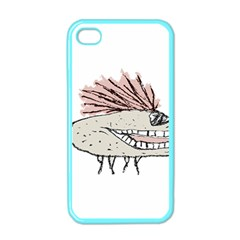 Monster Rat Hand Draw Illustration Apple Iphone 4 Case (color) by dflcprints