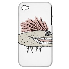 Monster Rat Hand Draw Illustration Apple Iphone 4/4s Hardshell Case (pc+silicone) by dflcprints