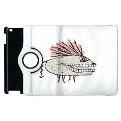 Monster Rat Hand Draw Illustration Apple Ipad 3/4 Flip 360 Case by dflcprints