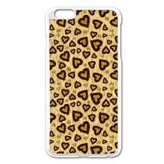 Leopard Heart 01 Apple Iphone 6 Plus/6s Plus Enamel White Case by jumpercat