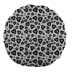 Leopard Heart 02 Large 18  Premium Flano Round Cushions by jumpercat