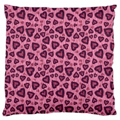 Leopard Heart 03 Large Flano Cushion Case (two Sides) by jumpercat