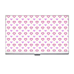 Pixel Hearts Business Card Holders by jumpercat