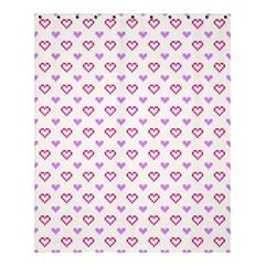 Pixel Hearts Shower Curtain 60  X 72  (medium)  by jumpercat