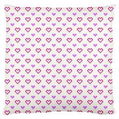 Pixel Hearts Standard Flano Cushion Case (one Side) by jumpercat