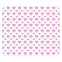 Pixel Hearts Double Sided Flano Blanket (small)  by jumpercat
