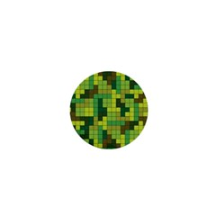 Tetris Camouflage Forest 1  Mini Buttons by jumpercat