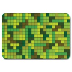 Tetris Camouflage Forest Large Doormat  by jumpercat